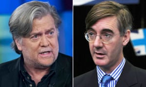 Steve Bannon and Jacob Rees-Mogg.