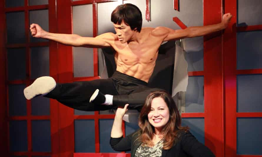 'I feel protected and guided by him' … Shannon Lee with a waxwork of her father at Madame Tussauds Hollywood; the new show Warrior completes his vision.