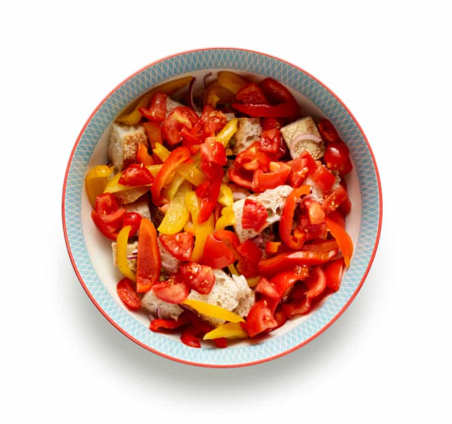 Add the tomatoes to the bowl.