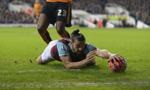 Wrong sport, Andy … but the big English striker still dominates discussion whenever he turns out for West Ham.