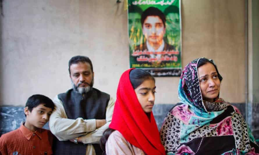 Taheer and Irum Aneez Malik, pictured here with their 12-year-old daughter Kashuf and 10-year-old nephew Hashir, mourn the loss of their 14-year-old son Hammad who was shot dead at school.