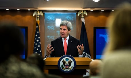 John Kerry links Britain to derailing of Obama's plan for intervention in Syria