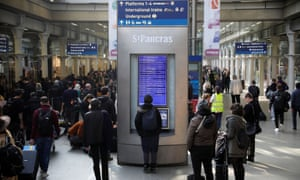 Terry Maher's actions caused severe delays at St Pancras station in London