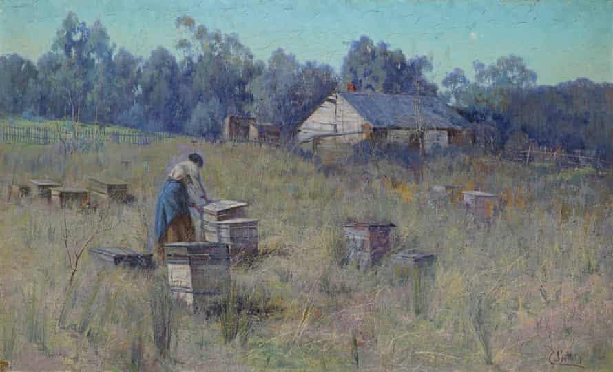 Clara Southern's An old bee farm, Warrandyte c.1900.