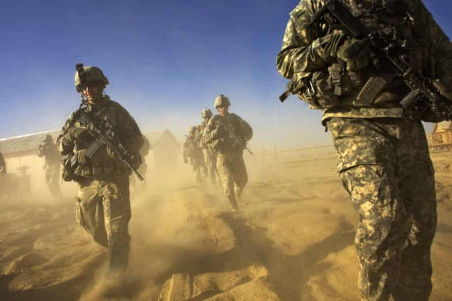 2008: US Army soliders from 1-506 Infantry Division set out on a patrol in Paktika province, situated along the Afghan-Pakistan border.