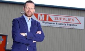 Alex Ingham in front of his MI Supplies workwear firm