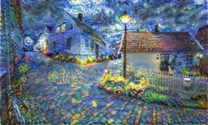 Moonage Daydream: art created by Deep Dream