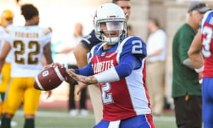 Johnny Manziel joined the Alouettes last year