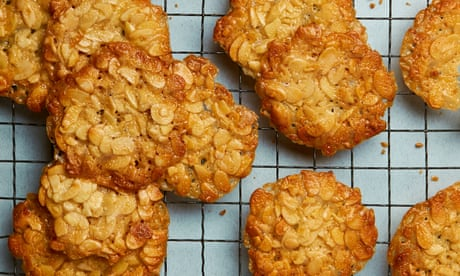 Tamal Ray's recipe for honey and almond brittle biscuits