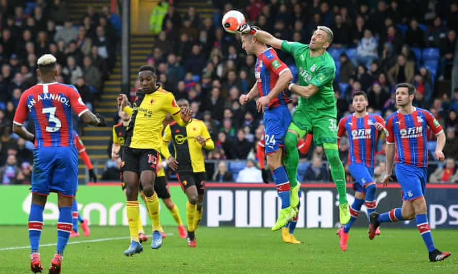 Crystal Palace's Spanish goalkeeper Vicente Guaita has been in fine form this season.