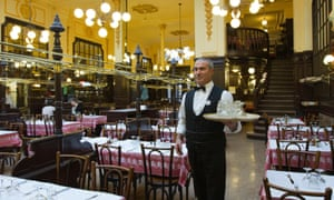 The historic restaurant Bouillon Chartier in Paris. But times are changing.