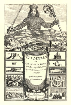frontispeice of leviathan by thomas hobbes