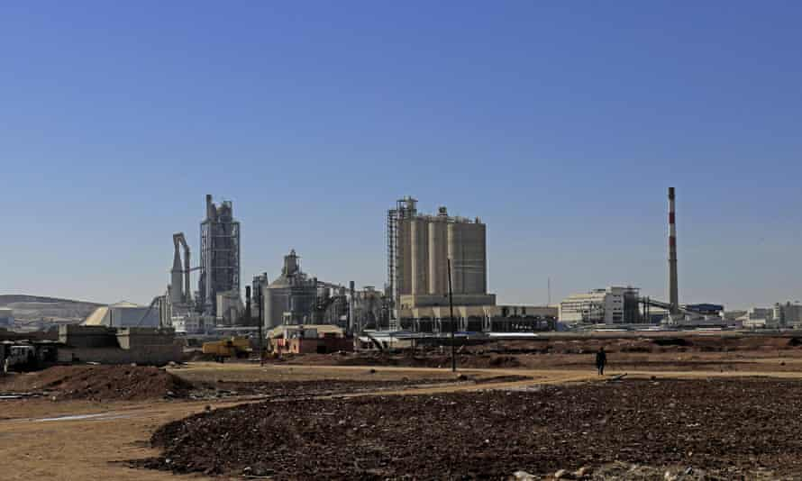 The Lafarge Cement Syria cement plant in Jalabiya.