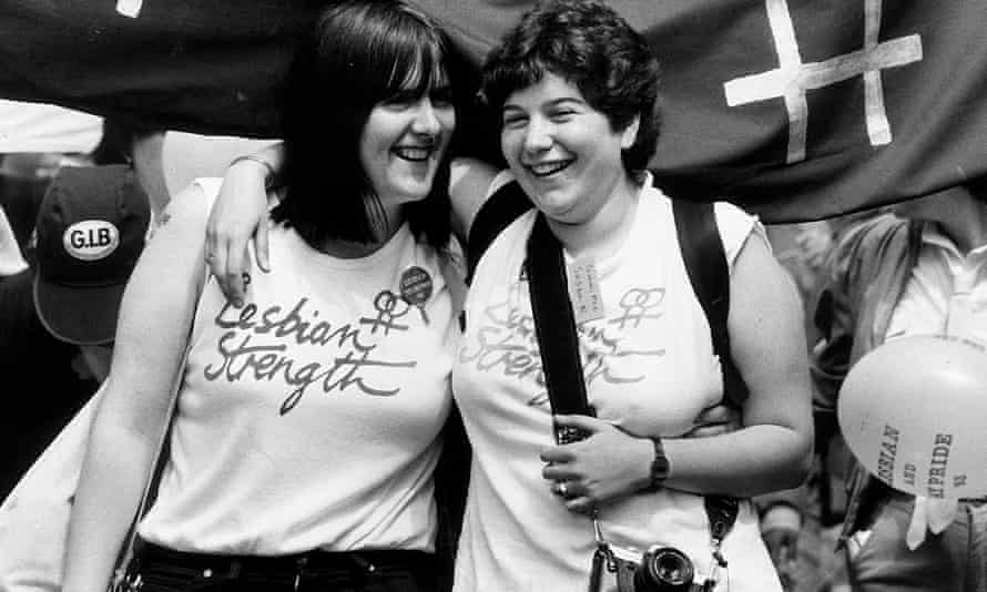Lisa Power, left, who worked on the Gay Switchboard in the 1980s.