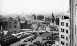 Suzhou Creek from Broadway Mansions in 1935.