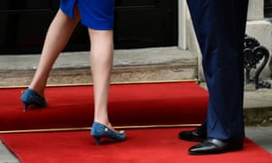 Theresa May's kitten heels – seen here during the state visit of Donald Trump – have long been a discussion point during her political career.