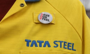 """A """"Save Our Steel"""" badge"""