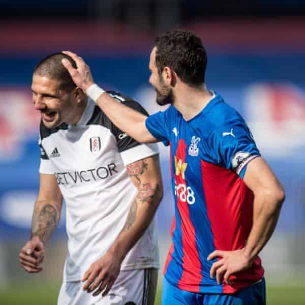 Serbian international teammates Aleksandar Mitrovic and Luka Milivojevic lined up on opposing sides.