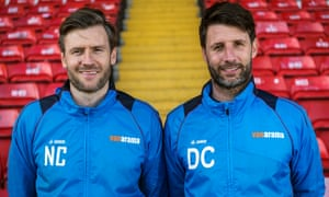 Lincoln City's Nick Cowley and Danny Cowley