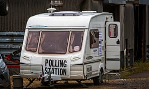 Down at the farm: there's a polling station at Grange Farm in Leicestershire.