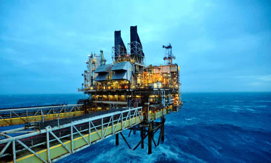 A BP oil platform in the North Sea
