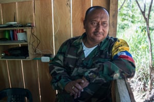 Alberto, one of the commanders of the Bloque Magdalena Medio of the Farc, who joined the rebel group 37 years ago when he was 12