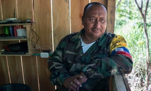 Farc commander Alberto Camacho joined the guerrillas 37 years ago when he was just 12.