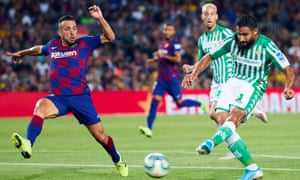 Nabil Fekir, right, scores the opener for Real Betis.