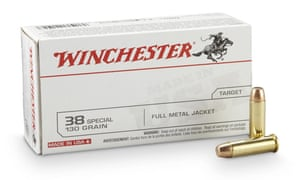 Stacked on supermarket shelves in boxes of 50 ... Winchester .38s