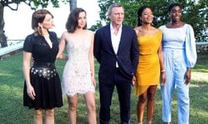 Lea Seydoux, Ana de Armas, Daniel Craig, Naomie Harris and Lashana Lynch