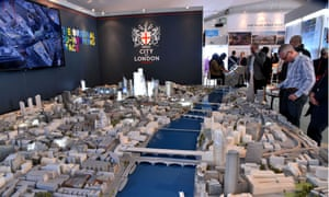 A scale model of the City of London at the Mipim conference in Cannes.