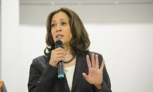 Kamala Harris speaks during an event in St George, South Carolina. The senator spent two days in the state, home of the first southern presidential primary in 2020.