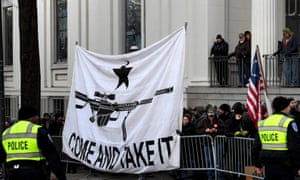 Thousands attended a pro-gun rally at Virginia's state capital on 20 January 2020.