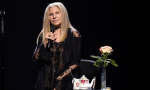 Barbra Streisand stops for tea in Brooklyn.