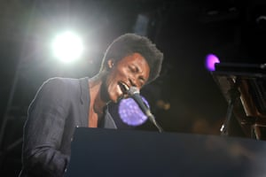 Benjamin Clementine, who was 'discovered' while playing on the Paris Metro.