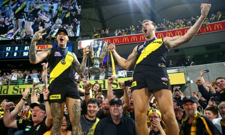Norm Smith medal winner Dustin Martin and Noah Balta