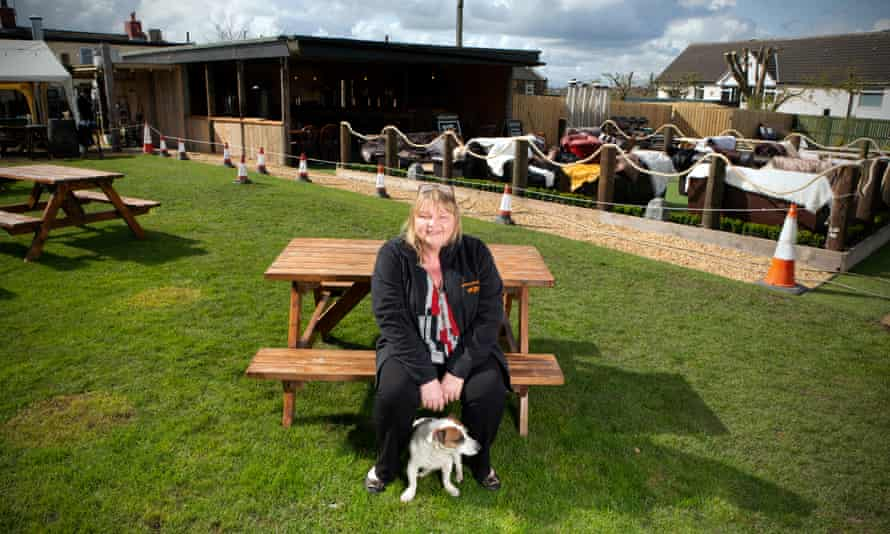 Jackie Fairburn, landlady of The Hare & Hounds pub in West Ardsley