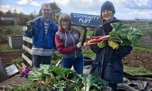 community plot Devon from allotment callout 2019