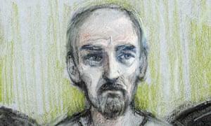 Court artist sketch of Thomas Mair
