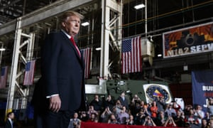 Donald Trump at the Lima Army Tank Plant Wednesday.