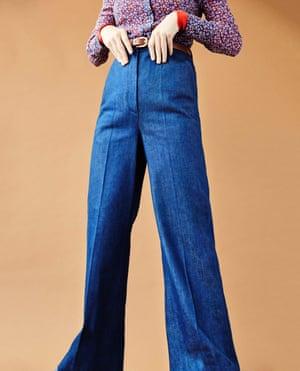 Shirt, £125, and jeans, £125, both topshop.com. Rollneck, £65,  hobbs.co.uk