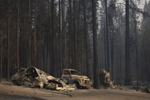 More burned vehicles after the Caldor fire swept through town