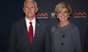 Mike Pence with Julie Bishop