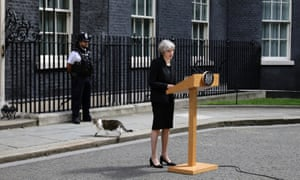 Theresa May speaking outside 10 Downing Street.