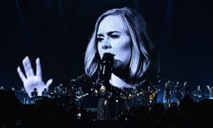 Adele performs in Belfast