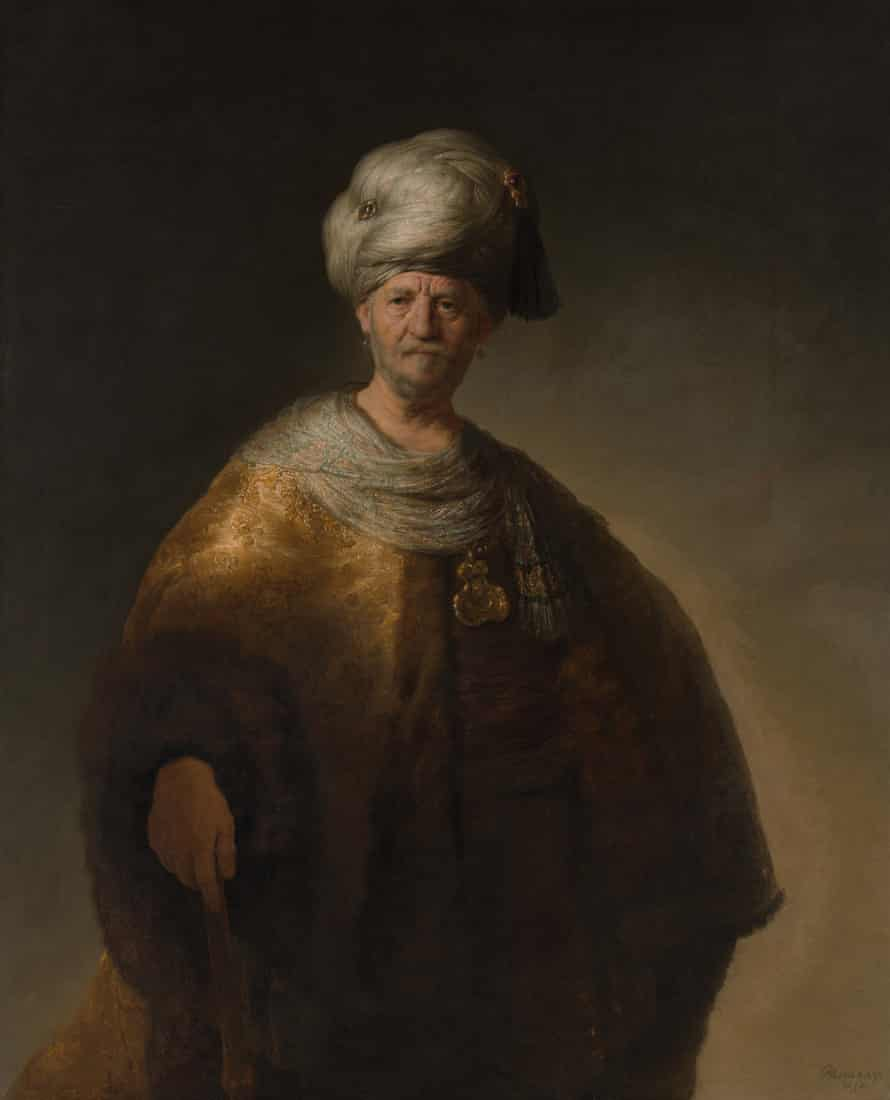 A Man in Oriental Dress ('The Noble Slav'), 1632 by Rembrandt.