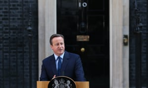 David Cameron resigning