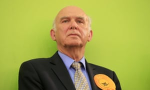Liberal Democrat business secretary Vince Cable after he lost his Twickenham seat to the Conservatives.