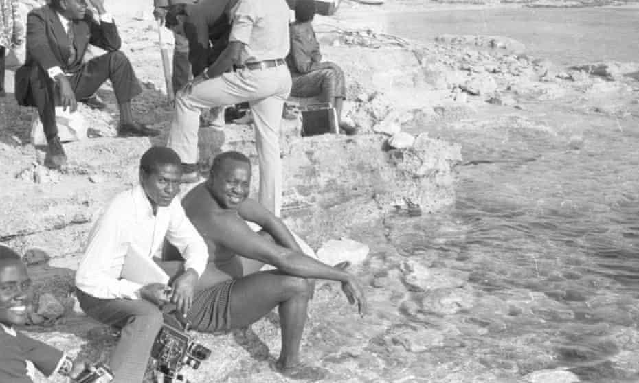Idi Amin at Lake Albert in July 1973