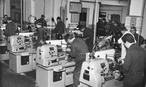 GKN engineering apprentices at work in 1967.